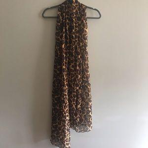 Leopard Print 100% Silk Scarf